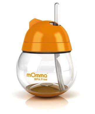 copo-antivazamento-com-canudo-retratil-250-ml-laranja---momma