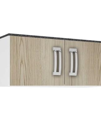 Armário-Geladeira-Portas-Poliman-Móveis-Branco-Teca